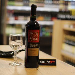 Вино «Espiritu De Chili Carmenere» красное п/сух