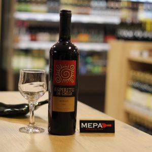 Вино «Espiritu De Chili Merlot» красное п/сух