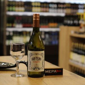 Вино «San Telmo, Shardonnay» белое п/сл