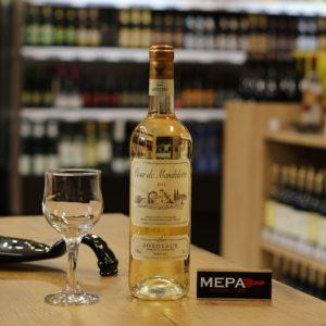Вино «Bordeaux, Tour de Mandelotte» белое сух.