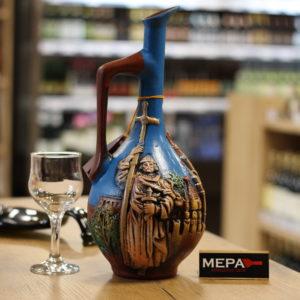 Вино «Кварельский погреб, Саперави» в Керамической бутылке красное сух