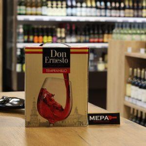 Вино «Don Ernesto, Tempranillo» красное сух