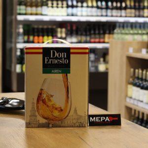 Вино «Don Ernesto, Airen» белое сух